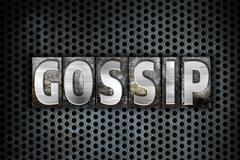 Gossip Concept Metal Letterpress Type Stock Illustration