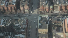 Boston Intersection from Above Stock Footage