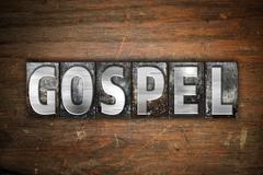 Gospel Concept Metal Letterpress Type Stock Illustration