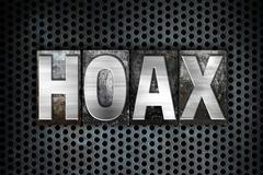 Hoax Concept Metal Letterpress Type - stock illustration