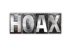 Hoax Concept Isolated Metal Letterpress Type - stock illustration