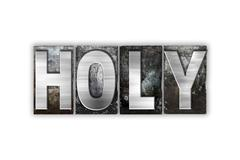 Holy Concept Isolated Metal Letterpress Type - stock illustration