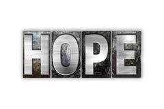 Hope Concept Isolated Metal Letterpress Type Stock Illustration