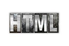 HTML Concept Isolated Metal Letterpress Type Stock Illustration