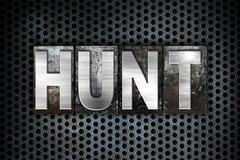 Hunt Concept Metal Letterpress Type - stock illustration