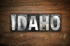 Idaho Concept Metal Letterpress Type Piirros
