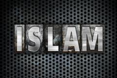 Islam Concept Metal Letterpress Type - stock illustration