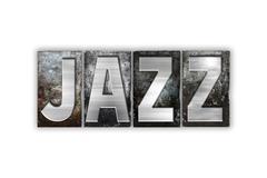 Jazz Concept Isolated Metal Letterpress Type - stock illustration