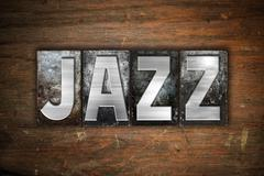 Jazz Concept Metal Letterpress Type - stock illustration