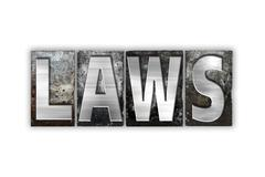Laws Concept Isolated Metal Letterpress Type - stock illustration