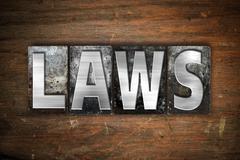 Laws Concept Metal Letterpress Type - stock illustration