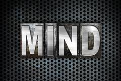 Mind Concept Metal Letterpress Type Stock Illustration