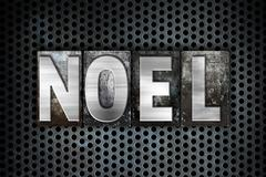 Noel Concept Metal Letterpress Type Stock Illustration
