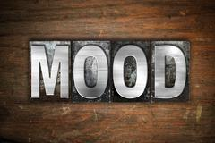 Mood Concept Metal Letterpress Type - stock illustration