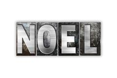 Noel Concept Isolated Metal Letterpress Type - stock illustration