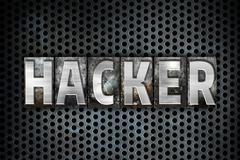 Hacker Concept Metal Letterpress Type Stock Illustration