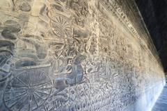 Angkor carved stone Stock Photos
