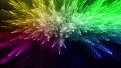 Colorful Flowing Particles Stock Footage