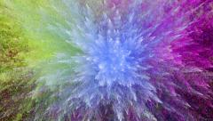 Triple Particle Explosion Stock Footage