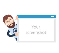 IT Guy with Browser Window Stock Illustration