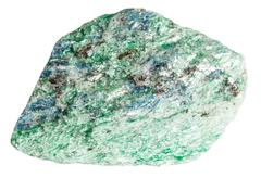 Fuchsite (chrome mica) mineral stone isolated - stock photo