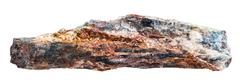 Schist rock with mica and red Aventurine feldspar - stock photo