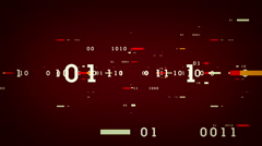 Binary Data Bits Red - stock footage