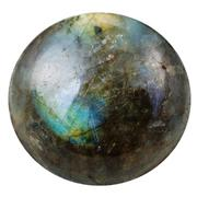 Cabochon from labradorite mineral gem stone Stock Photos