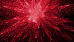 Red Particles Explosion Stock Footage