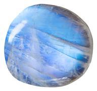 tumbled blue moonstone (adularia) mineral gem - stock photo