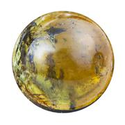 cabochon from green tourmaline natural mineral gem - stock photo