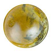 Bead from green tourmaline natural mineral gem Stock Photos