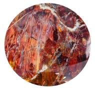 tumbled red sunstone natural mineral gem stone - stock photo
