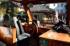 Schonau am Konigssee, Germany - August 30, 2015: Wheelman's seat on small pas - stock photo