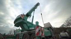 Moveable construction crane at work Stock Footage