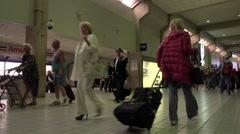 Dallas International airport passenger terminal fast motion HD Stock Footage
