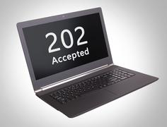 HTTP Status code - 202, Accepted - stock photo