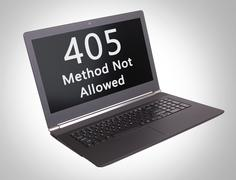 HTTP Status code - 405, Method Not Allowed Stock Photos