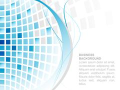 Blue abstract vector square mosaic business background. - stock illustration