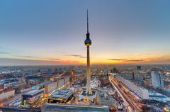 The famous Television Tower, Berlin Stock Photos