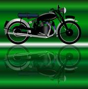 Stock Illustration of Classic Motor Cycle