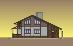 Facades Cottage - stock illustration