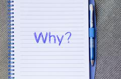 Why write on notebook - stock photo