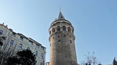 İstanbul Galata Tower Stock Footage