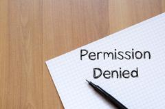 Permission denied write on notebook Stock Photos