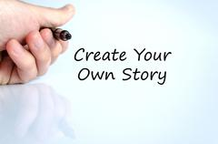 Create your own story text concept - stock photo