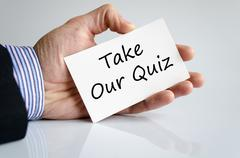 Take our quiz text concept - stock photo