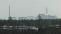 General view of Chernobyl nuclear power plant - stock footage
