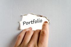 Portfolio text concept - stock photo