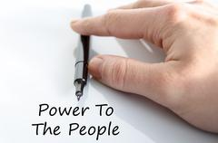 Power to the people text concept - stock photo